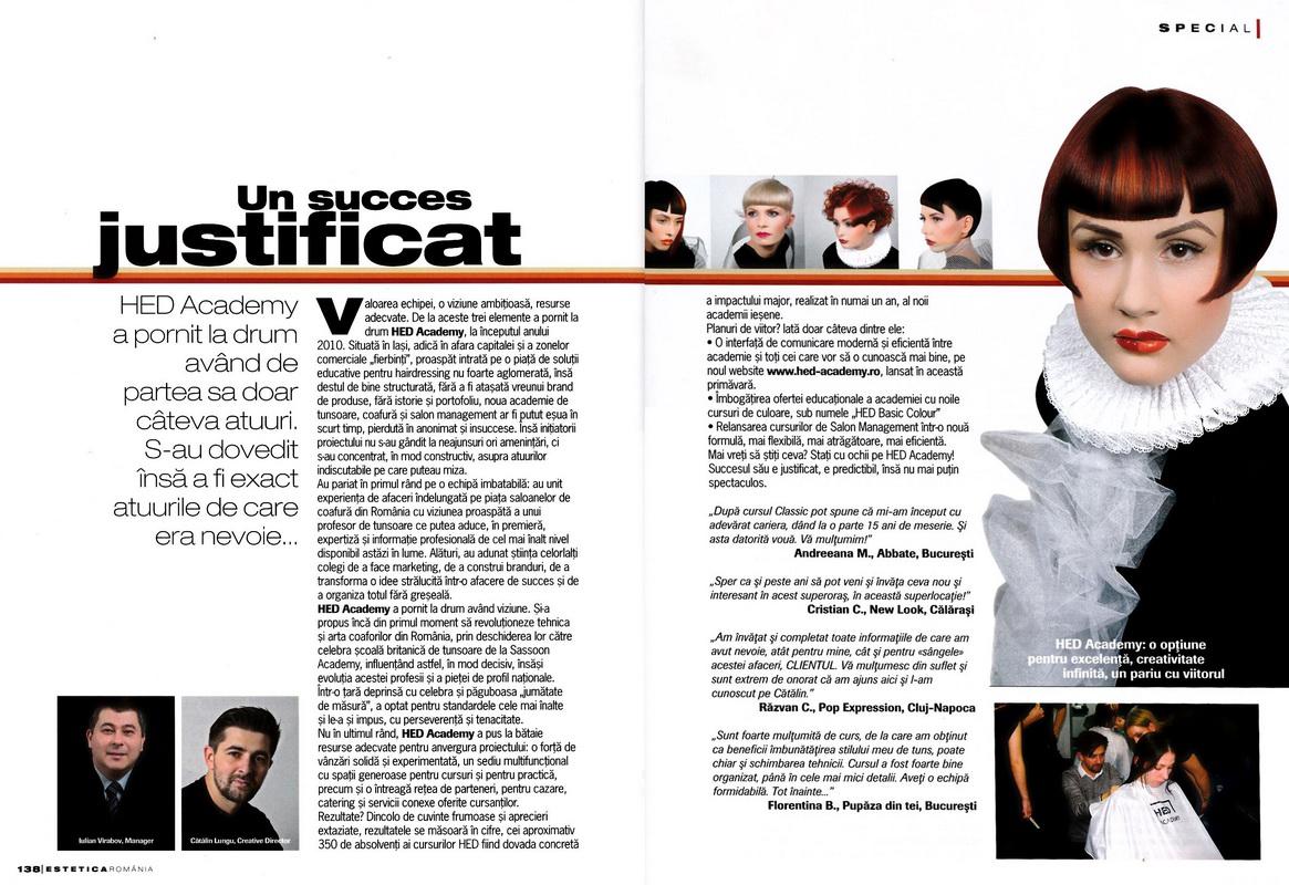 Articol</br>Estetica</br>nr. 14 / 2011